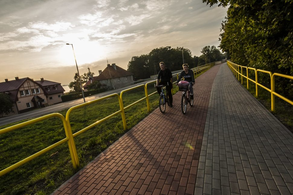 Ścieżka rowerowa w okolicy Węgorzewa