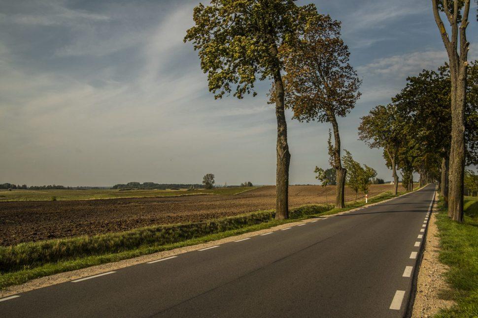Droga krajowa nr 16 pomiędzy Mikołajkami a Orzyszem